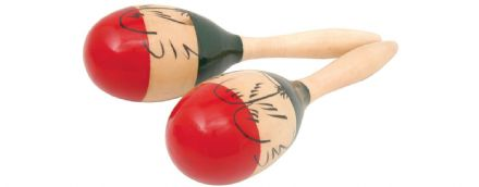 "Chord Painted Maracas 10"" - Pair"